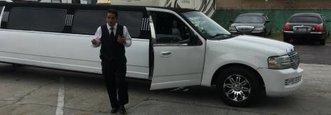 Go to dinner in a Navigator Limo