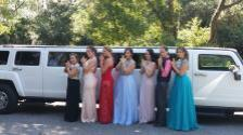 Hummer H3 Limo with Prom Group