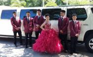 Quinceanera Group with Escalade Limo